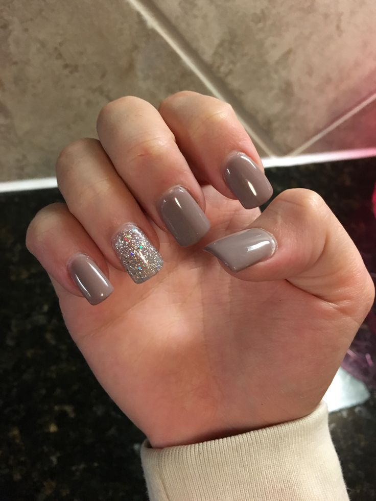 taupe nails ideas