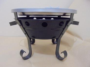 Parrillas de Mesa o Brasero Parrillero fierro y acero 26 cm | www.losparrilleros.cl