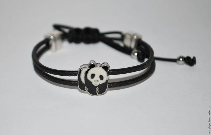 Купить Детский браслет панда - черный, детский браслет, браслет для ребенка, подарок ребенку, панда
