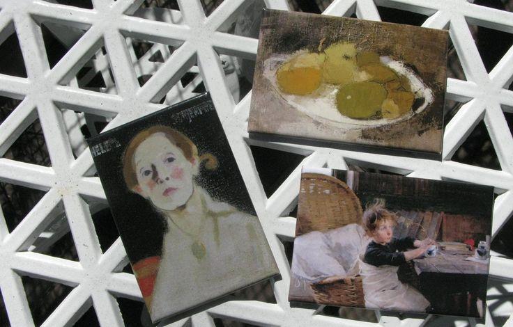 Helene Schjerfbeck: Vykort -postikortteja - postcards.  1,50/2,50€ #EKTAMuseumcenter #HeleneSchjerfbeck #Postcards #EKTASchjerfbeck