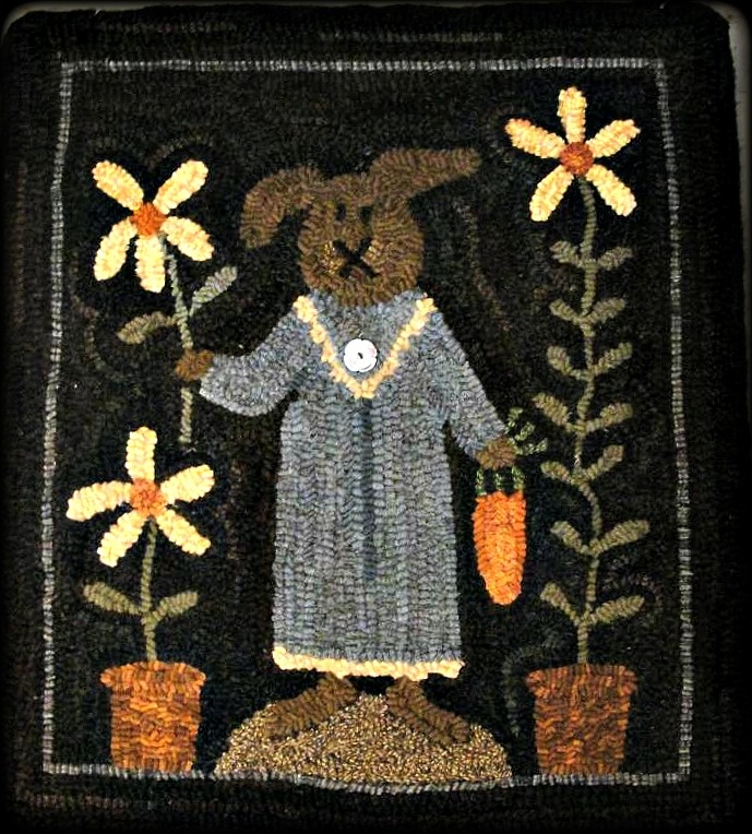 The Cranky Crow Design By Red Barn Rugs Rug Hooking Patternsrug Patterns Primitive