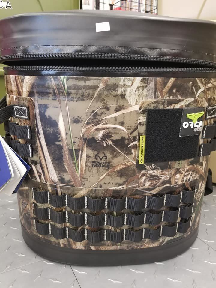 Orca 26 Quart Camo Pod With Straps Outdoors Coolers Camping Summer Orca Camo Hunting Orca Cooler Orca Cooler Accessories