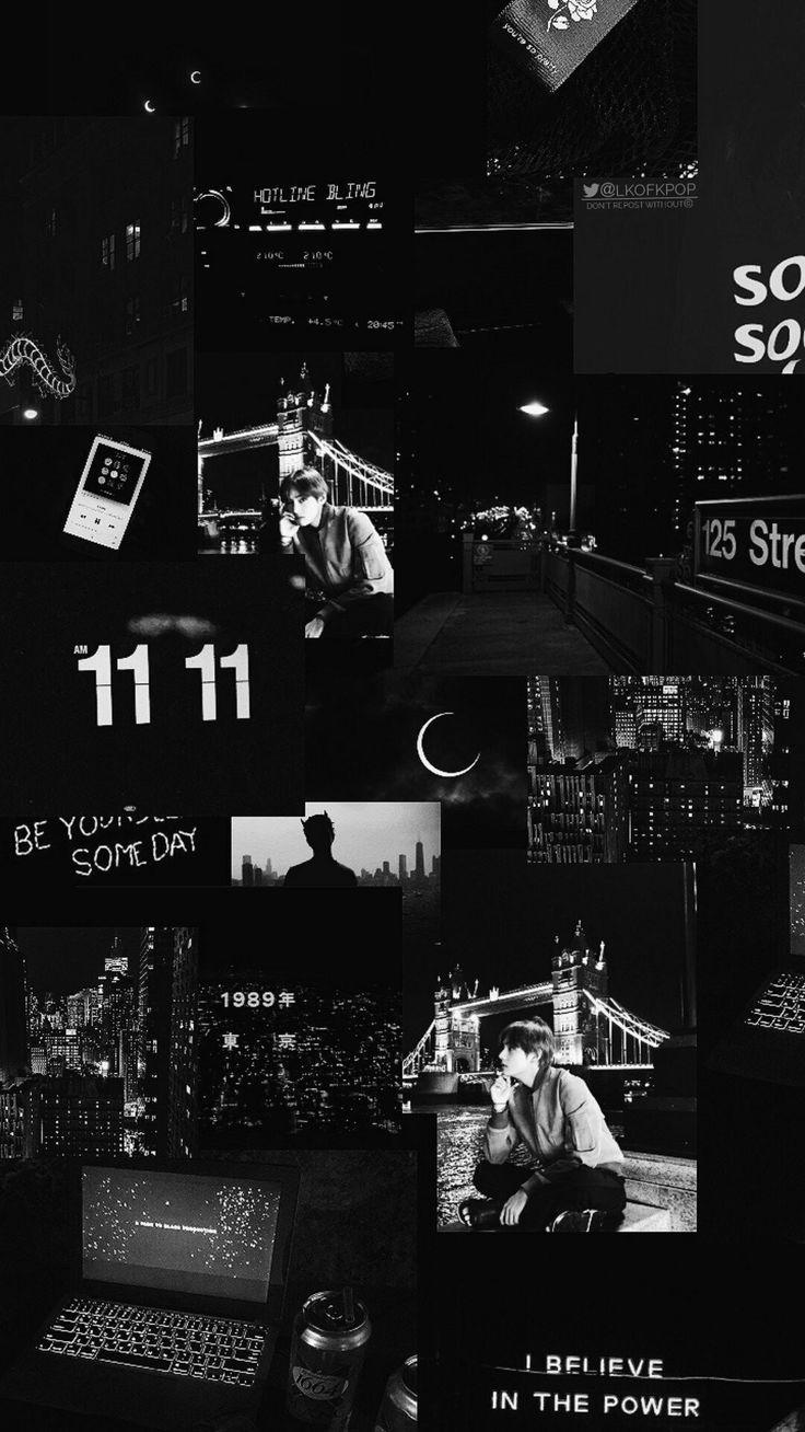 Lock Screen Black Aesthetic Collage Wallpaper Cuteanimals Black Phone Wallpaper Black Aesthetic Wallpaper Aesthetic Iphone Wallpaper