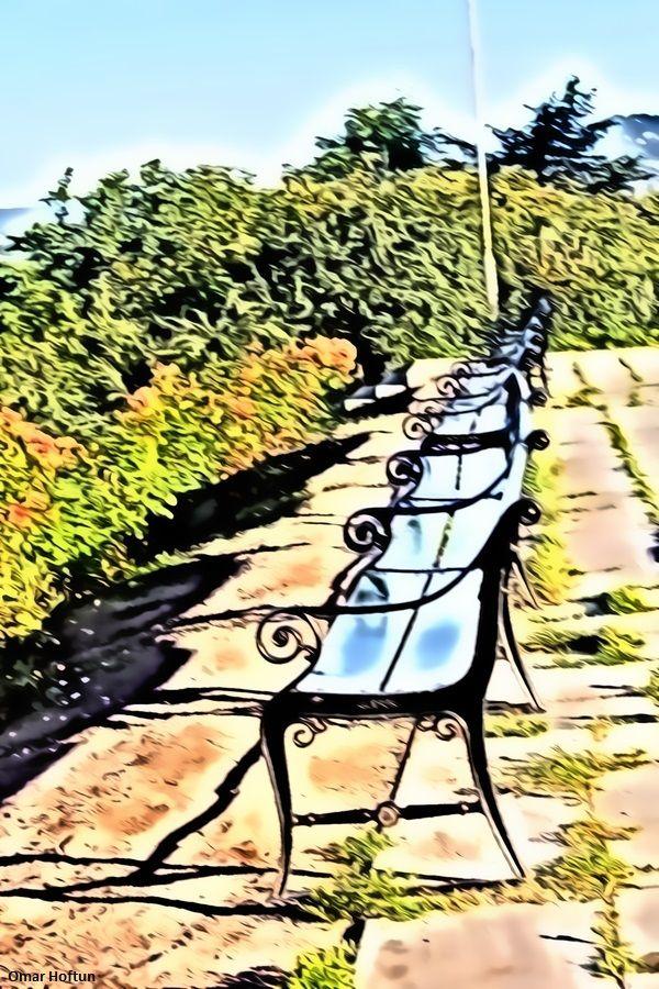 Benches in St. Hanshaugen park, July 12, 2014.