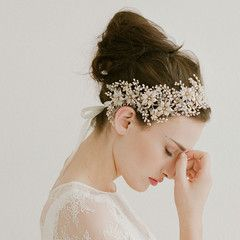 Golden blossom and crystal burst headband