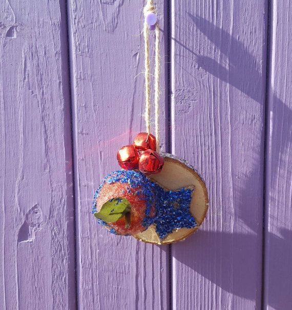 Blue Tree Ornament Yuletide Decoration Yule Star Decor