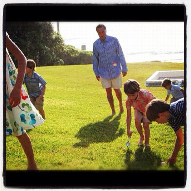 Easter egg roll with the grandkids!