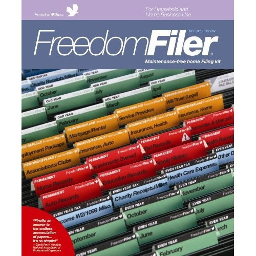 Amazon.com: Freedom Filer Maintenance Free Deluxe Home Filing Kit: Office  Products