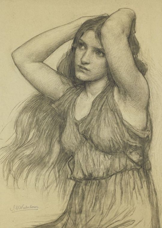 John William Waterhouse (1849-1917) Flora