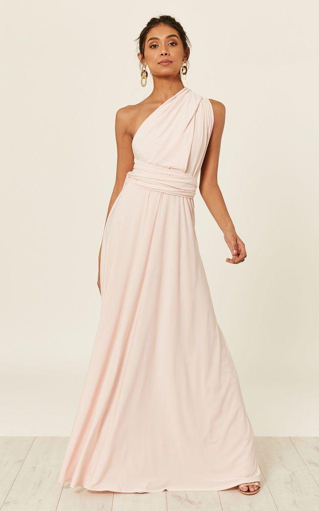 Alexis Blush Multi Way Maxi Bridesmaid Dress Revie London Silkfred Multiway Bridesmaid Dress Blush Maxi Dress Multi Way Dress