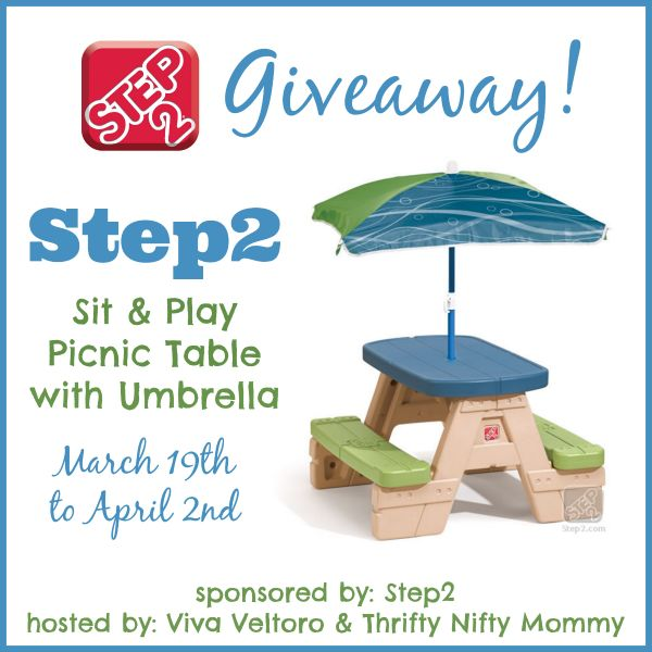 Check out my review of the Sit & Play Picnic Table with Umbrella from @Step2 AND enter to WIN one too!  #Giveaway!