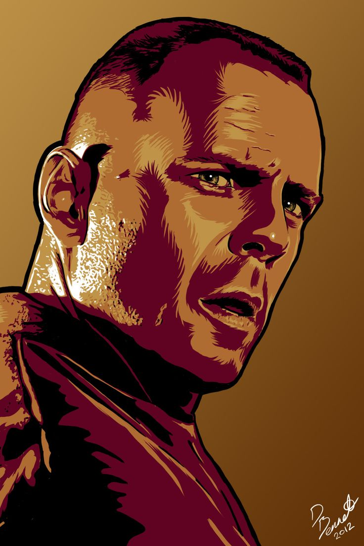 Butch Coolidge from Pulp Fiction. Art by me Daniel Bennett at Honcho-sfx.com.