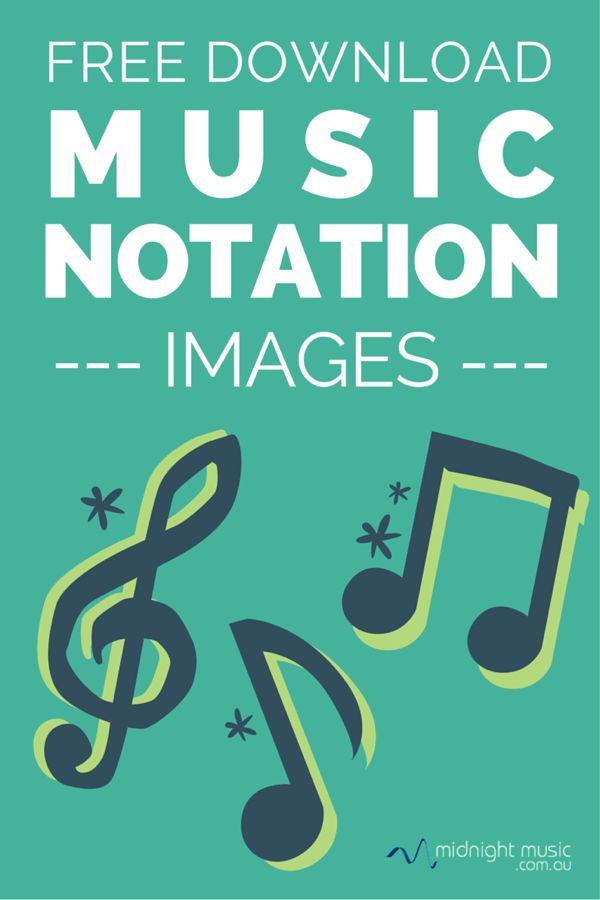 Free Music Notation Images. Zip file downloads. Big and Small versions.