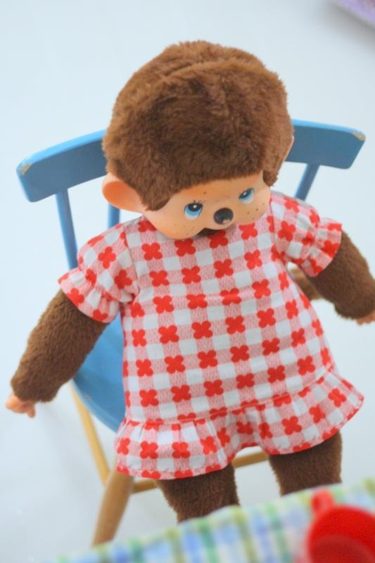 Helmen talo: Hyvää viikonloppua♥  Zo'n Monchichi-aapje heb ik vroeger ook gehad...
