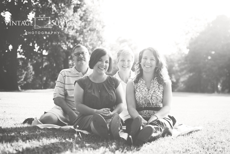 St. Louis Area Family Photographer::The Casaleggi's | Vintage Suitcase Photography    black and white family portrait