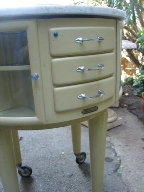 French 50s dentist cabinet