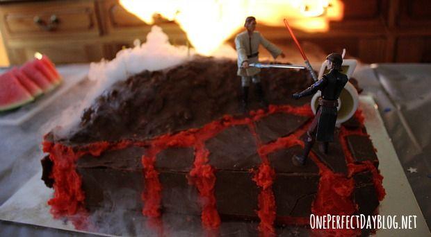 Star Wars birthday cake.  Not difficult.