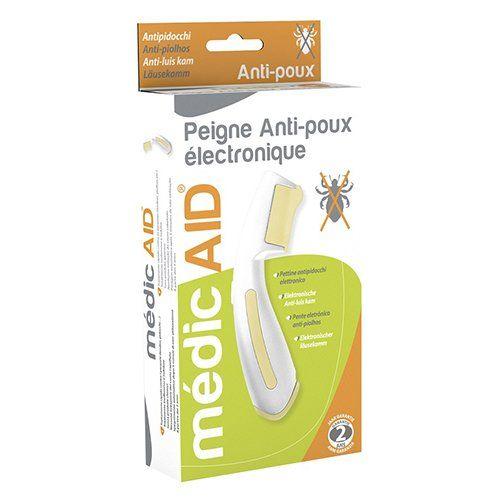 médicAID Peigne Anti-Poux Électronique Price:     Médic Aid Peigne Anti-Poux Electronique Propriétés : Médic Aid Peigne Anti-Poux Electronique est i...