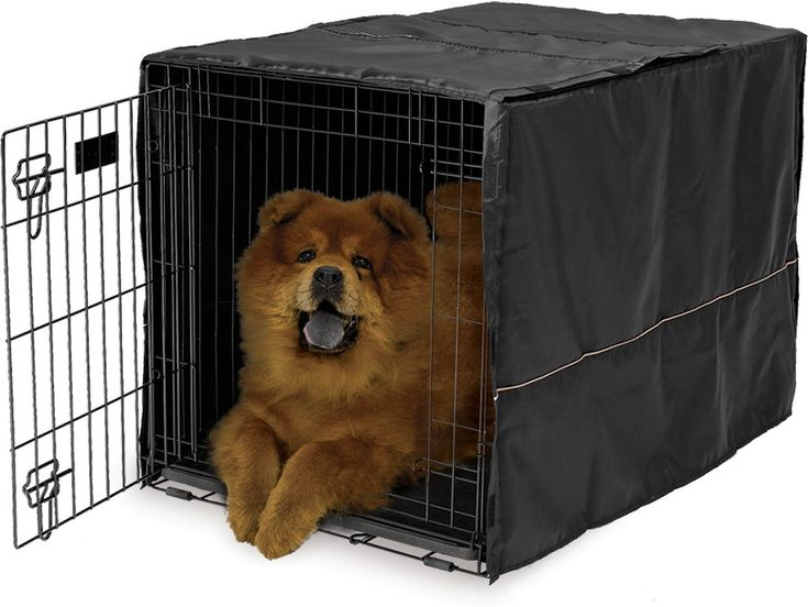 MidWest Crate Covers provide your pet with a quiet, private sanctuary of their own! The easy-to-use crate cover simply slips over the top of your MidWest crate, providing your pet with a relaxing environment to sleep while you are away! The crate cover offers proper ventilation and can be used with 1, 2, or 3 door crates, allowing entrance and access from multiple sides. The crate cover also allows access to the slide-out plastic pan in your crate for easy removal and cleaning. Available…