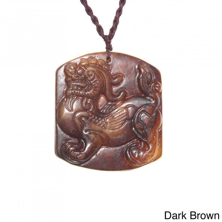 Handmade Blessing Animal Antique Jade Necklace