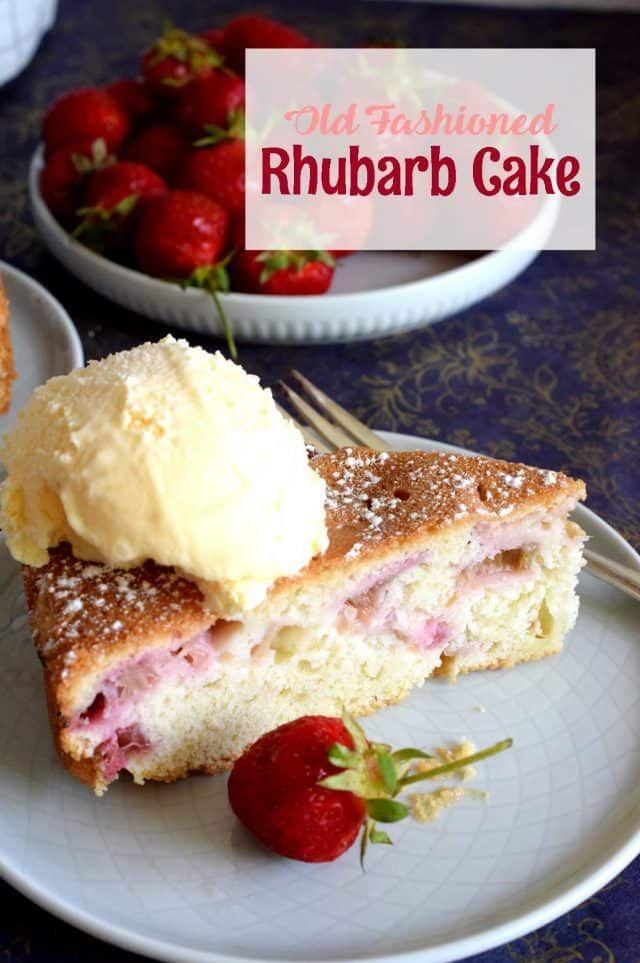 Old Fashioned Rhubarb Cake Lord Byron S Kitchen In 2020 Rhubarb Cake Old Fashioned Cake Recipe Rhubarb Recipes