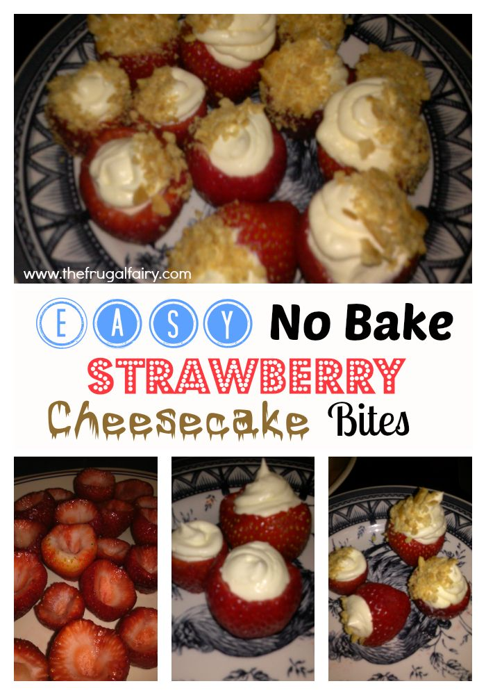 Strawberry Cheesecake Bites No Bake!