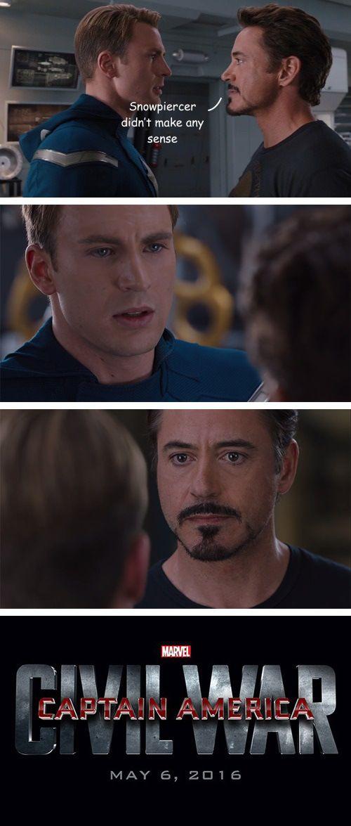 YES! Lol captain-america-civil-war-memes-snowpiercer-didnt-make-sense