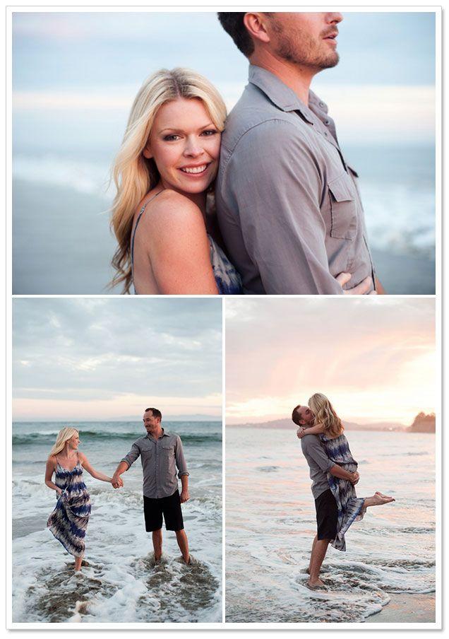 Beach engagement couple photo shoot photography pre
