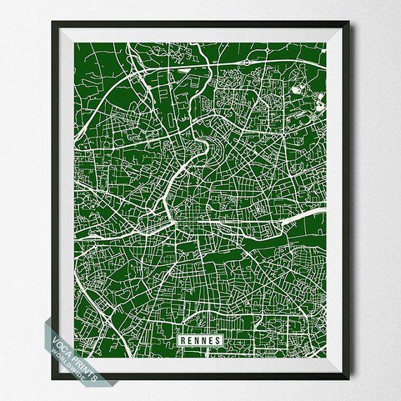Rennes Print France Poster Rennes Poster Rennes Map by VocaPrints. - Prices start from $9.90 Shipping Worldwide! #vocaprints #wallart #walldecor #homedecor #decor #art #christmasgift #giftforher #giftforhim #mothersdaygift #fathersdaygift #babygift #poster #print #nurseryart #nurserydecor #holidaygift #giftidea #officedecor #babyshowergift #map #streetmap #mapart