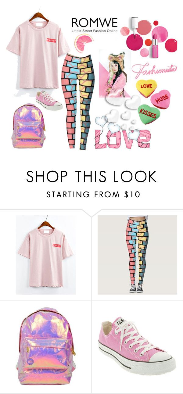 romwe by perfex on Polyvore featuring Converse, Miss Selfridge, Clinique and Valentino