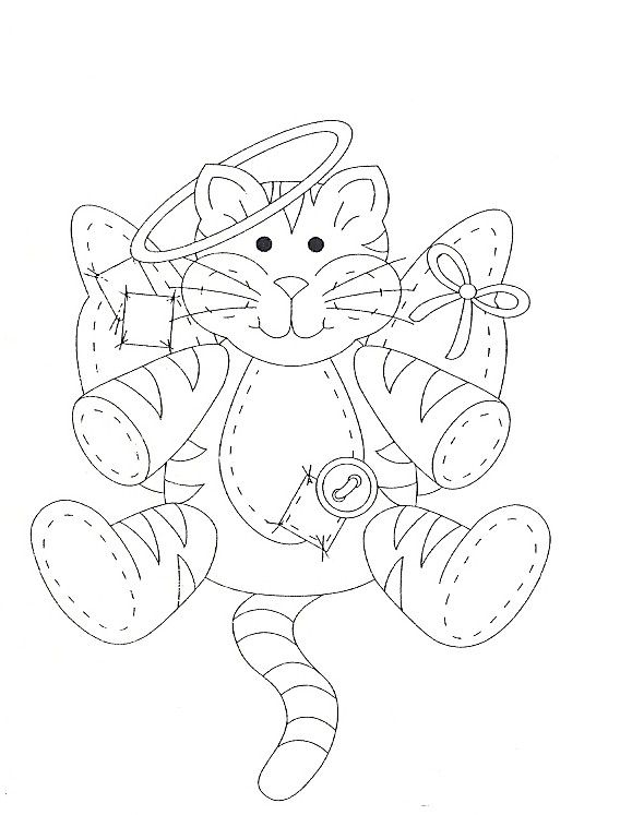 Angel Cat Coloring PagesColouringCat