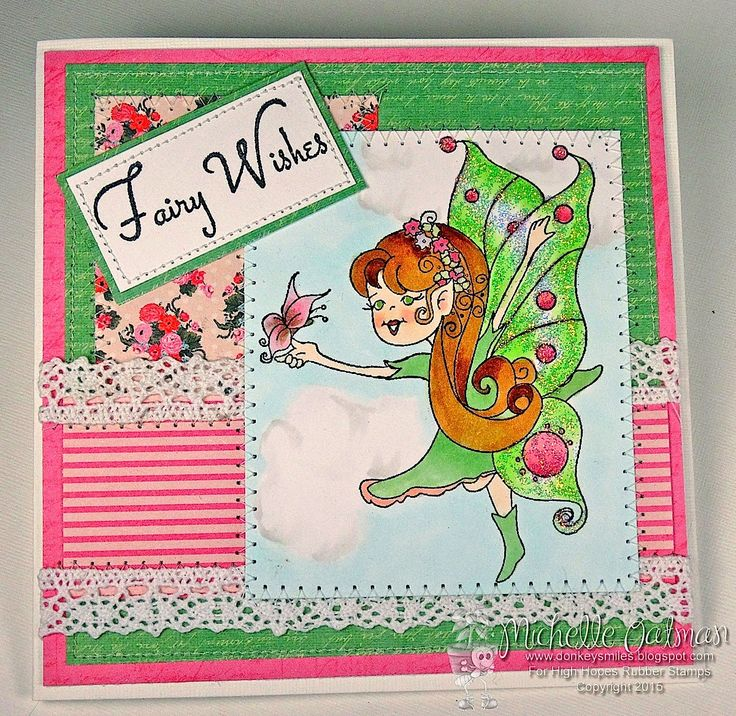 """High Hopes Stamps: """"fairy Wishes"""" by Michelle using New Release """"Julie's Flight"""" coming May 1"""