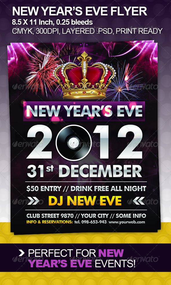 The 25+ best New yearu0027s eve flyer ideas on Pinterest New year - free new years eve flyer template
