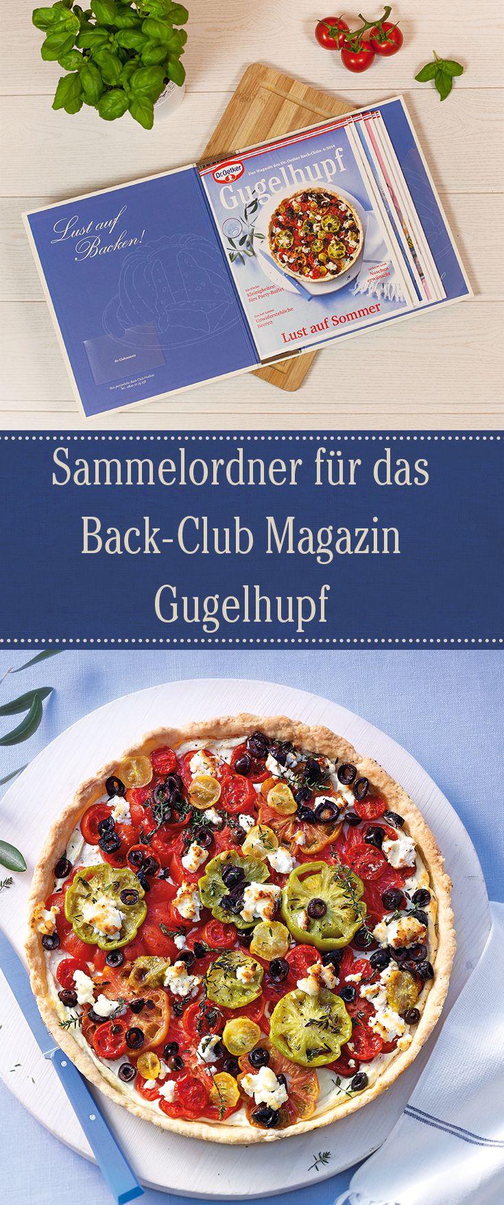 Machen Sie Back-Club-Mitgliedern eine große Freude und verschenken Sie diesen praktischen Sammelordner für die Gugelhupf-Magazine.