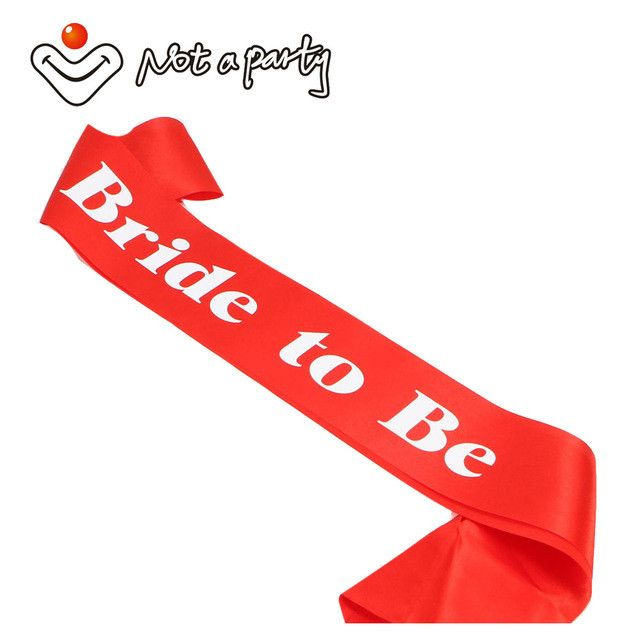 Red costume accessories 12pcs sashes for Hen party bride to be bachelorette event party supplies wedding events mariage bridal
