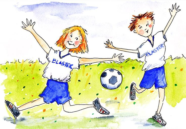 "Soccer Score - 6"" x 8"" watercolor and ink by Serena Fenton"