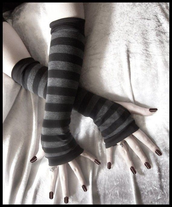 Dusk And Her Embrace Arm Warmers  Dark Charcoal by ZenAndCoffee, $26.00