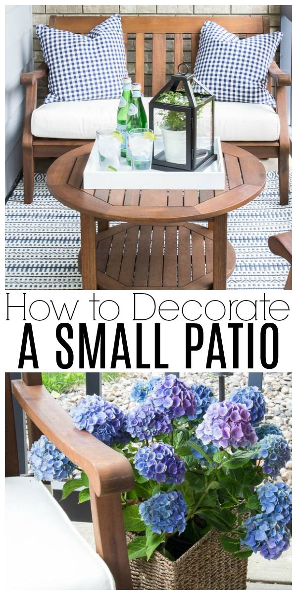 Are you intimidated by a super tiny front porch? Don't be! I'll show you how to decorate a small patio beautifully with just a few basic accessories!