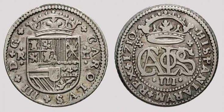 2 Reales plata. Barcelona, 1710