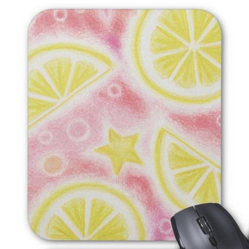 "Roze Limonade ""Citroenen"" mousepad Muismat"