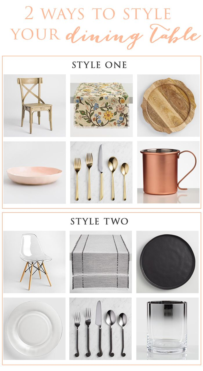 81 best dining room home decor images on pinterest world market two different ways to style your dining table by ninaandcecilia for cost plus world market