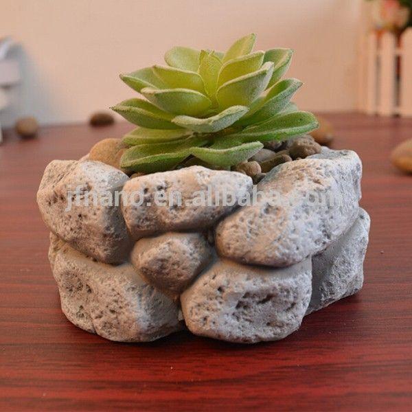 más de 25 ideas únicas sobre maceteros de piedra en pinterest