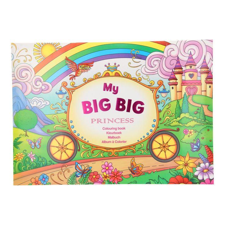 Dit kleurboek bevat 18 grote kleurplaten met verschillende avonturen van de prinses en haar vriendinnen. Kleur de plaat in en breng de kleurplaten tot leven. Ideaal voor uren kleur plezier!Afmeting:  41,5 x 30 cm - My Big Big Kleurboek - Prinses