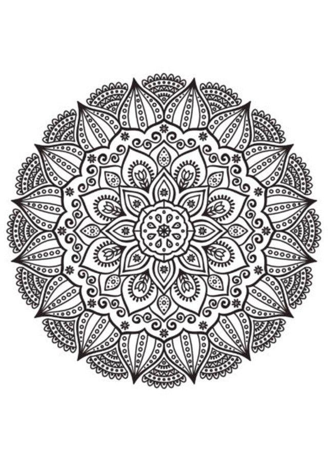 Dibujos Para Colorear Mandalas Dificiles Coloring Pages Mandala Colorful Pictures