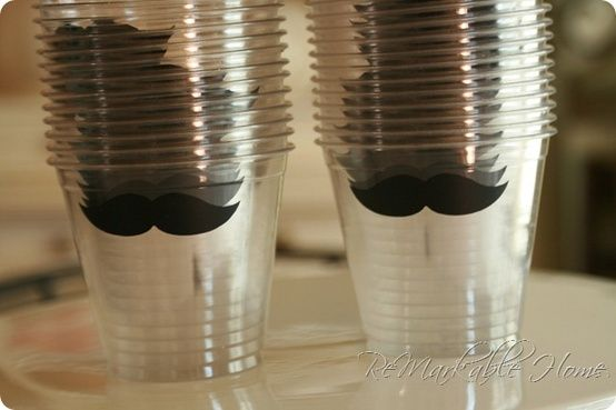Little Man Baby Shower Idea: mustache stickers!