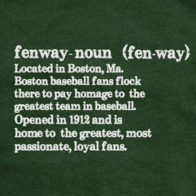 Fenway Park. Boston, Massachusetts. Home. Discard 1/3 of my ashes here. Save 1/3 for the future home of the Red Sox.
