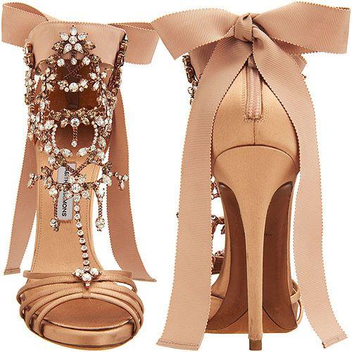 Tabitha Simmons Crystal Sandals.
