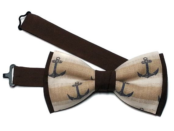 Anchor Bow Tie Navy Anchor Bowtie Mens by emilyrosecouture12