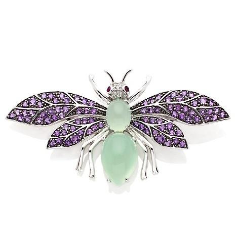 "Sima K 1.39ct Muligemstone ""Dragonfly"" Brooch/Pendant:"