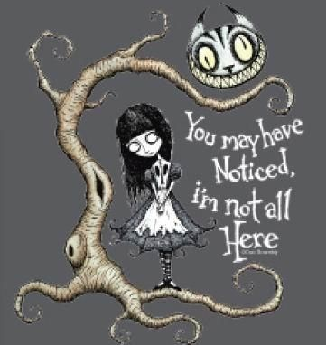 """Goth Alice In Wonderland - """"You May Have Noticed, I'm Not All Here"""""""